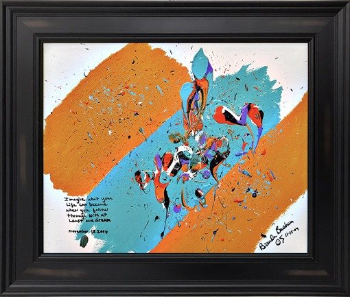 Poetry Painting Framed